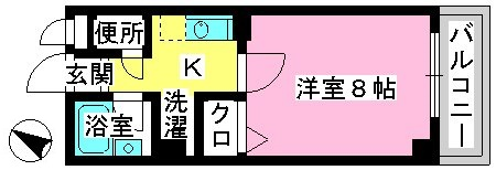 ジュネス井尻駅前 / 602号室間取り