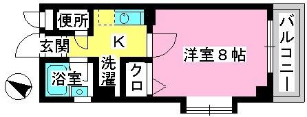 ジュネス井尻駅前 / 603号室間取り