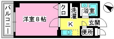 ジュネス井尻駅前 / 605号室間取り