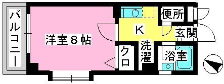 ジュネス井尻駅前 / 607号室間取り