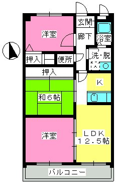 井尻第3ビル / 702号室間取り