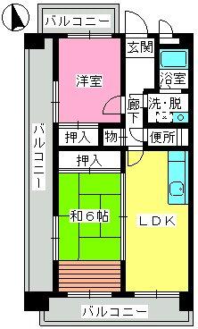 井尻第3ビル / 703号室間取り