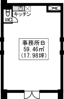 イーストパル博多Ⅱ・店舗 / 店舗B号室間取り