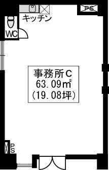 イーストパル博多Ⅱ・店舗 / 店舗C号室間取り
