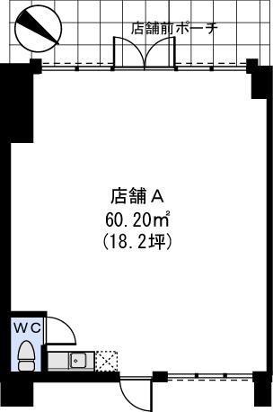 Bonheur Casa / 店舗A号室間取り