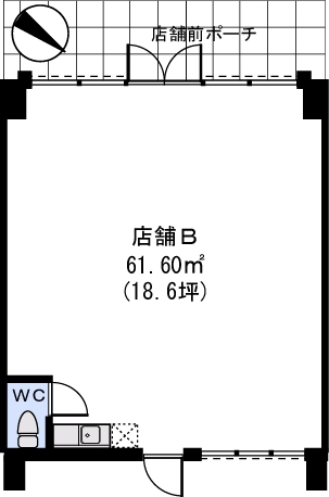 Bonheur Casa / 店舗B号室間取り