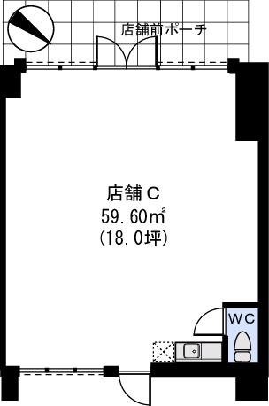 Bonheur Casa / 店舗C号室間取り