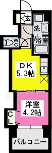 サンパティーク高宮 / 703号室間取り