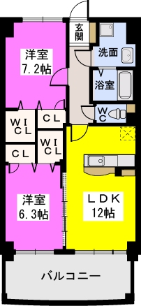 ルグラン博多駅南 / 502号室間取り