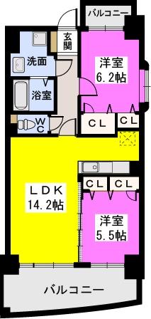 ルグラン博多駅南 / 603号室間取り