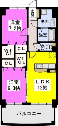 ルグラン博多駅南 / 802号室間取り