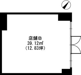 ルシール筑紫通り 店舗 / B号室間取り