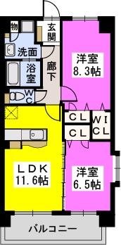 コンコルディア / 201号室間取り