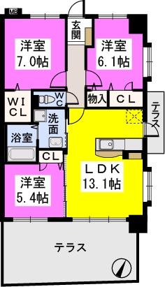 コンフォート・レジデンス / 105号室間取り
