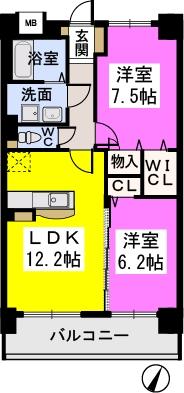 コンフォート・レジデンス / 203号室間取り