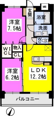 コンフォート・レジデンス / 502号室間取り