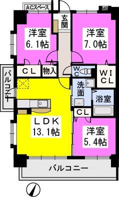 コンフォート・レジデンス / 701号室間取り