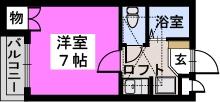 サンコート野多目 / 201号室間取り