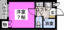サンコート野多目 / 202号室間取り