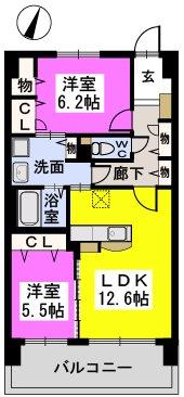 ステラSTⅢ / 405号室間取り