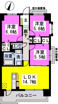 ステラSTⅢ / 701号室間取り