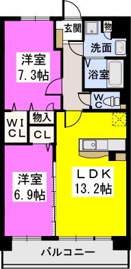 オリオン3(ペット可) / 102号室間取り