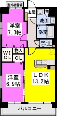 オリオン3 / 201号室間取り