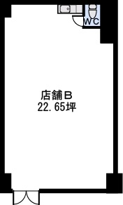 ステラSTⅢ店舗・事務所 / 店舗B号室間取り