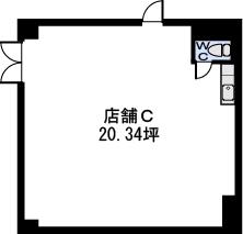 ステラSTⅢ店舗・事務所 / 店舗C号室間取り