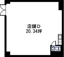 ステラSTⅢ店舗・事務所 / 店舗D号室間取り