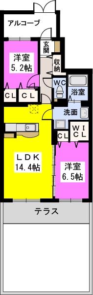 ココテラスK / 102号室間取り