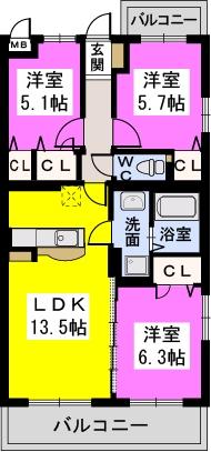 ココテラスK / 305号室間取り