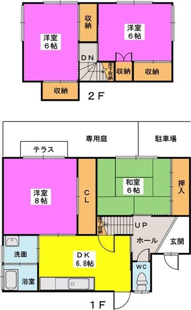 渡辺貸家 / 5号号室間取り