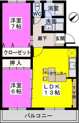 メゾーンハウス83 / 103号室間取り