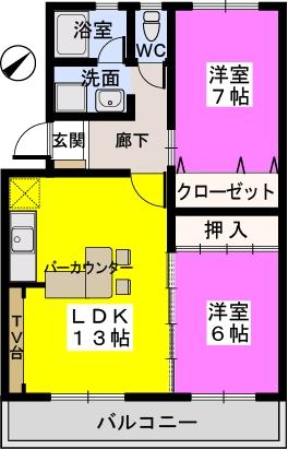 メゾーンハウス83 / 105号室間取り