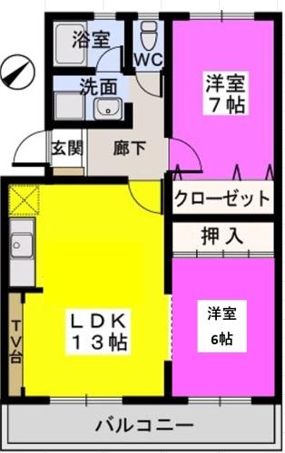 メゾーンハウス83 / 202号室間取り