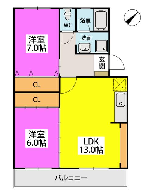 メゾーンハウス83 / 203号室間取り
