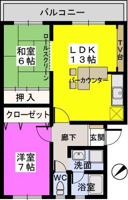 メゾーンハウス83 / 302号室間取り