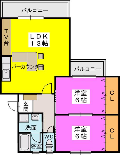 メゾーンハウス83 / 401号室間取り