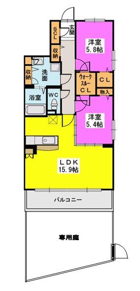 ラ・エクラン / 101号室間取り