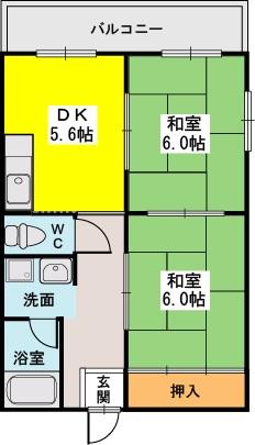 三丁目ビル / 201号室間取り