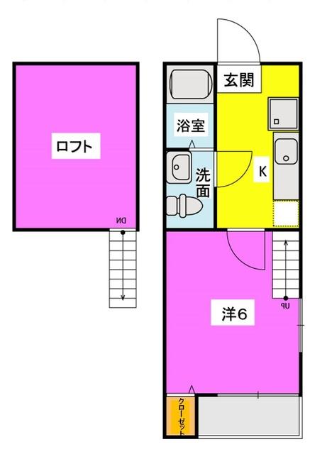 NAOレインボーコーポ井尻 / 206号室間取り