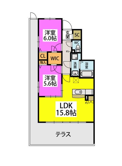 仮)プレアK野多目 / 103号室間取り