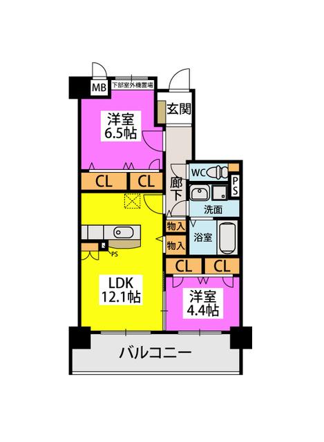 ボヌール メゾン / 302号室間取り