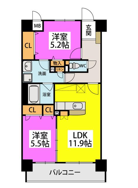 ボヌール メゾン / 305号室間取り