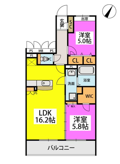 U.ZハイツⅢ / 302号室間取り