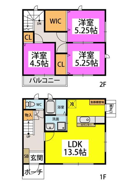 和田3丁目永隈貸家 / 1号室間取り