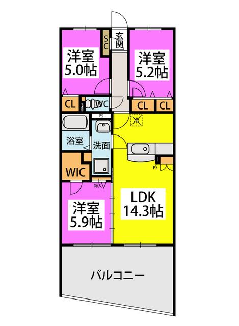 アトレ / 102号室間取り