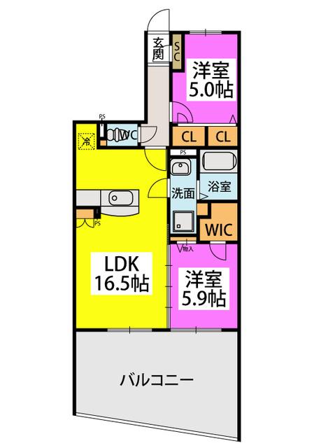 アトレ / 103号室間取り