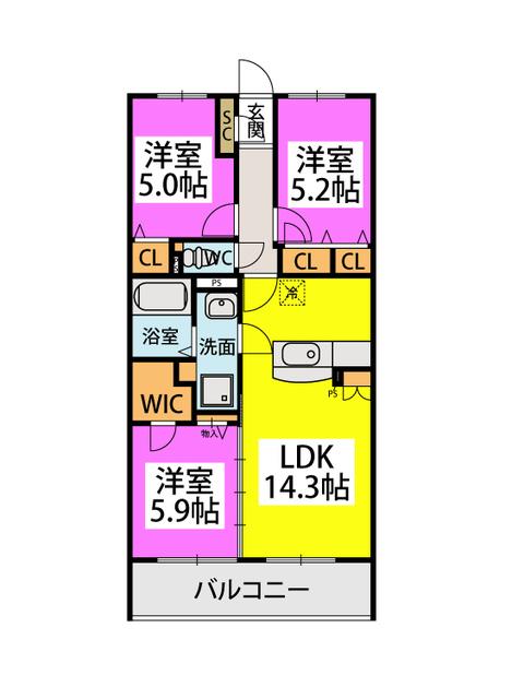 アトレ / 302号室間取り